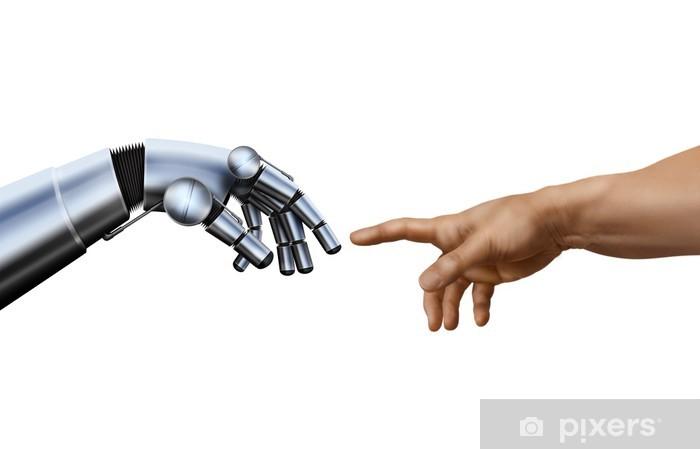 Fotomural Estándar Miguel Ángel: La creación de Adán. Robot Hand. - Partes del cuerpo