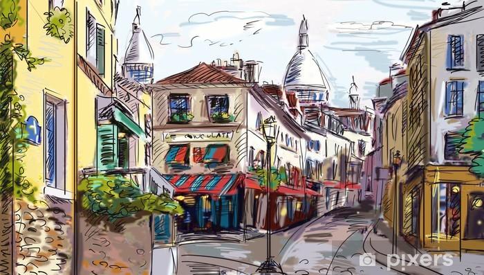 Vinilo Pixerstick Calle de París - ilustración - Temas