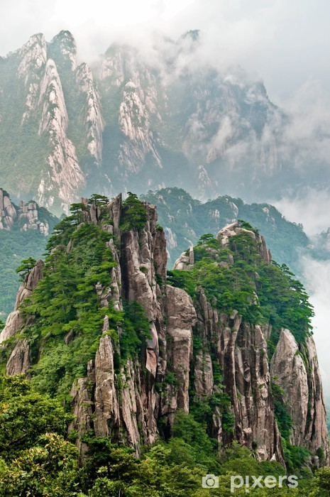 Naklejka Pixerstick Huangshan szczyt - Azja