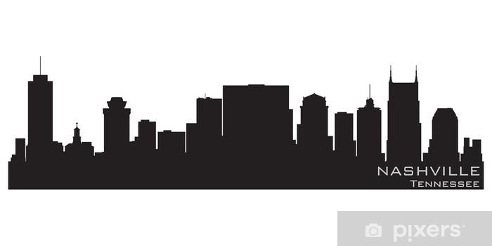 Nashville, Tennessee skyline. Detailed vector silhouette Pixerstick Sticker - America
