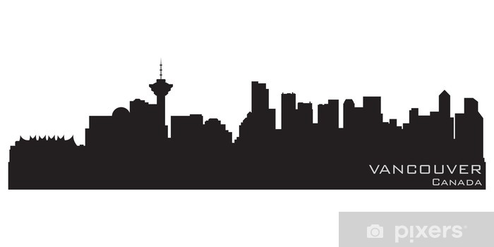 vinyl wall art Vancouver Skyline wall decal mural sticker
