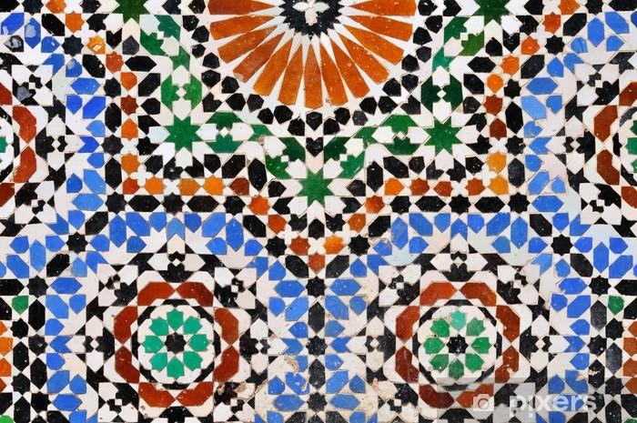 Wonderbaarlijk Sticker Stenen tegels, mozaïek, Marokko • Pixers® - We leven om te JT-54