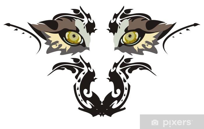 Papier peint vinyle Yeux de loup - Animaux imaginaires