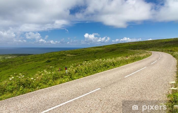 Nálepka Pixerstick Klikatá cesta mezi Lands End a St. Ives, Cornwall, Anglie - Evropa
