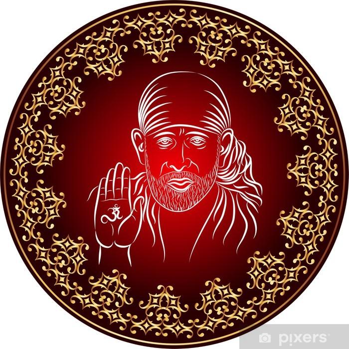 Papier peint vinyle Shirdi Sai Baba, était un gourou indien, yogi et fakir - Religion