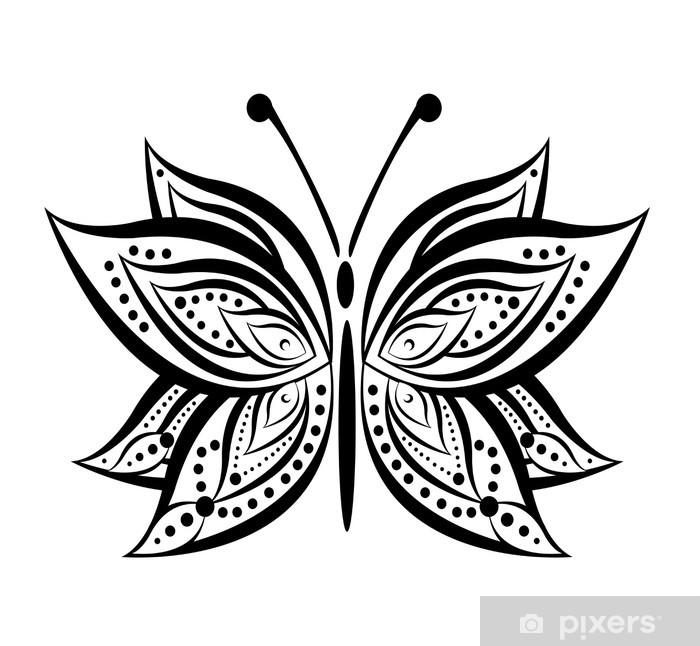 Nálepka Pixerstick Motýl vektor - Témata