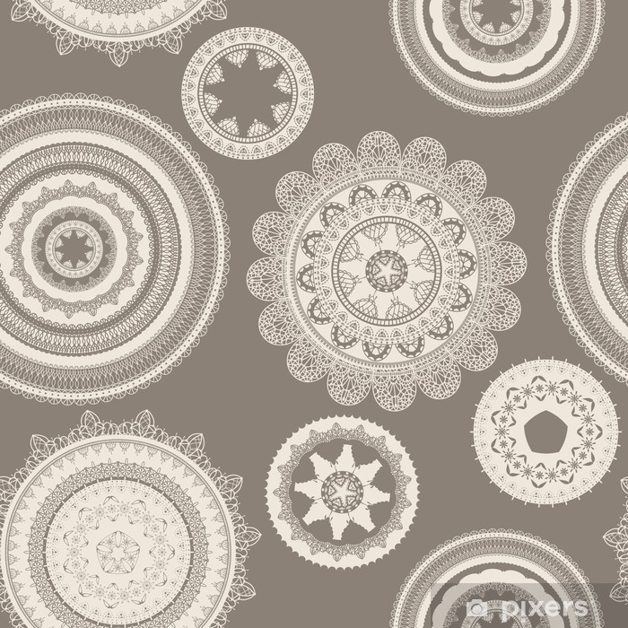 vector seamless pattern with lacy napkins Framed Poster - Backgrounds