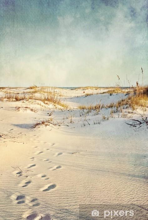 Papier peint vinyle Dunes de sable au coucher du soleil Image texturée - Vacances