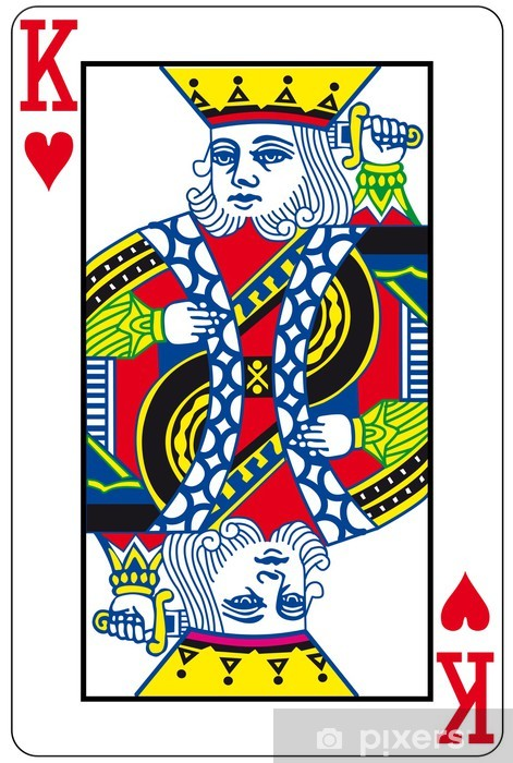 Afwasbaar Fotobehang King of Hearts - Amusement