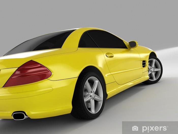 Fototapeta winylowa Żółty samochód sportowy - Tematy
