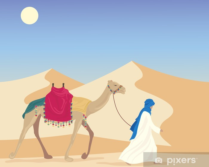 Vinyl-Fototapete Araber mit Kamel - Naher Osten