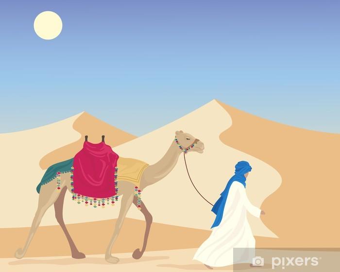 Fototapet av Vinyl Arab med kamel - Mellanöstern
