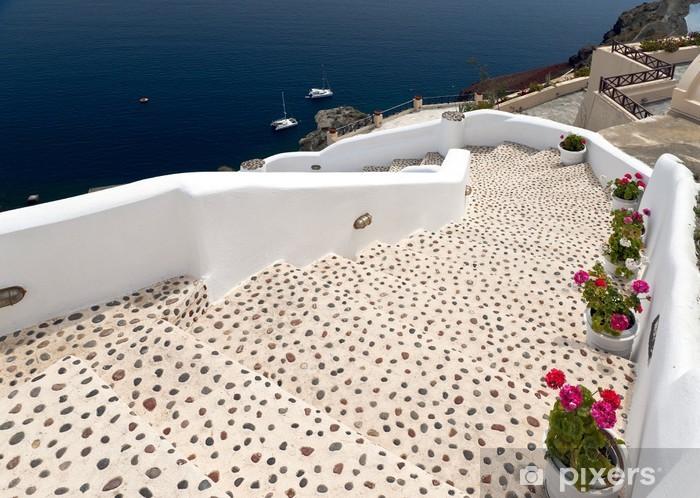 Papier peint vinyle Leopard escalier à la mer - Thèmes
