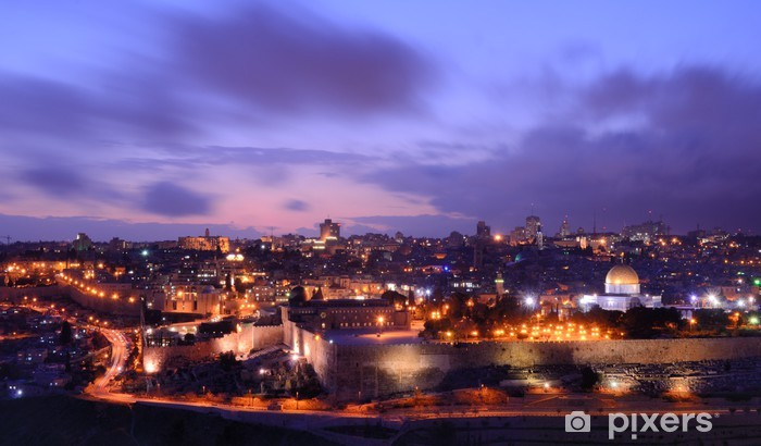 Jerusalem Skyline Pixerstick Sticker - The Middle East