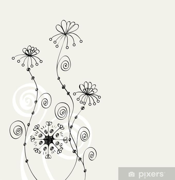 Fototapeta Winylowa Kwiaty Fantazja Słodkie Tło Dla Tekstu