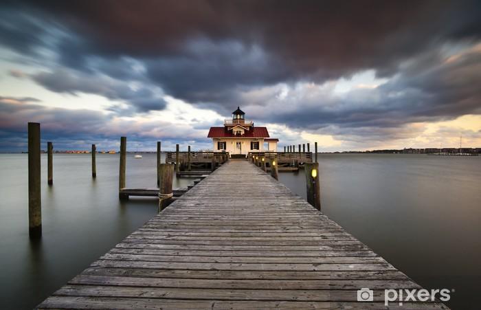 Nálepka Pixerstick Roanoke Bažiny Lighthouse Manteo bank Harbor Vnějších NC - Infrastruktura