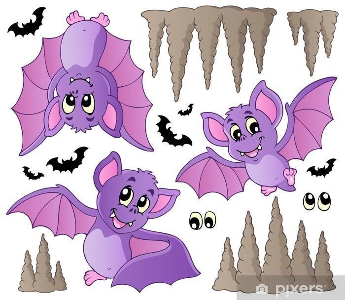 cartoon animal bat decal sticker window wall laptop door room
