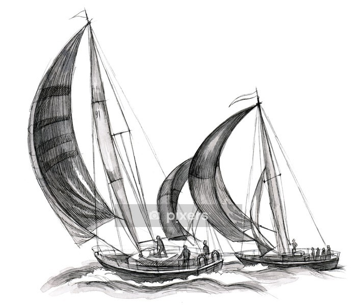 Vinilo para Pared Embarcaciones marítimas - iStaging