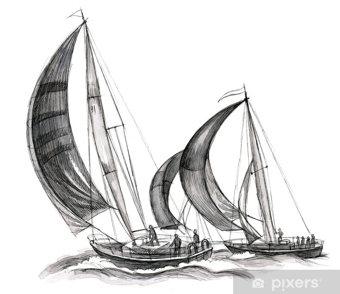 sea boats Vinyl Wall Mural - iStaging
