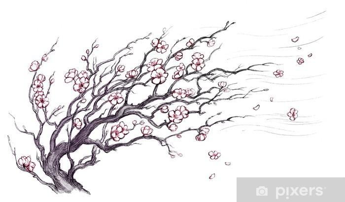 Fototapeta winylowa Japoński wiśniowe drzewo - Tematy