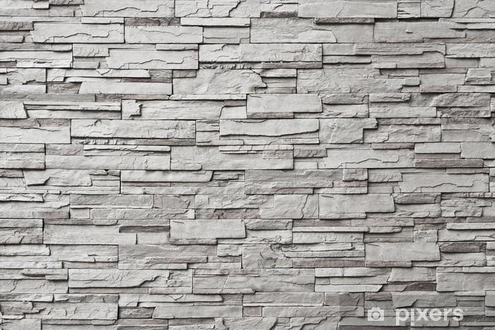 Fotomural Estándar La pared de piedra gris moderno - Estilos