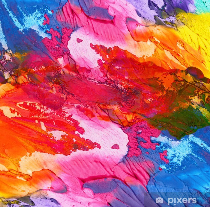 Abstract acrylic hand painted background Vinyl Wall Mural -