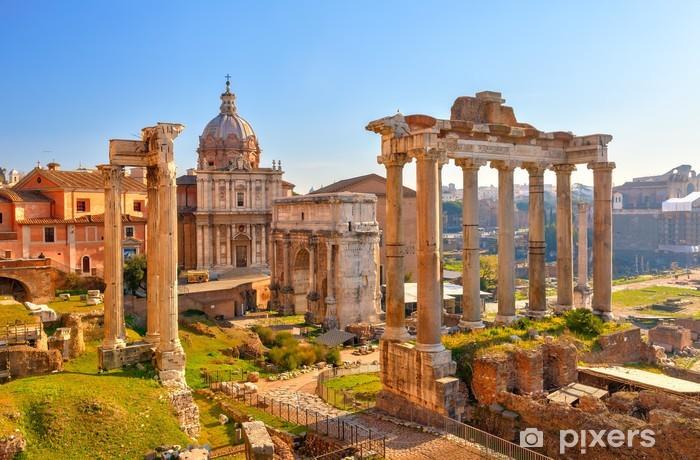 Roman ruins in Rome, Forum Vinyl Wall Mural - Themes