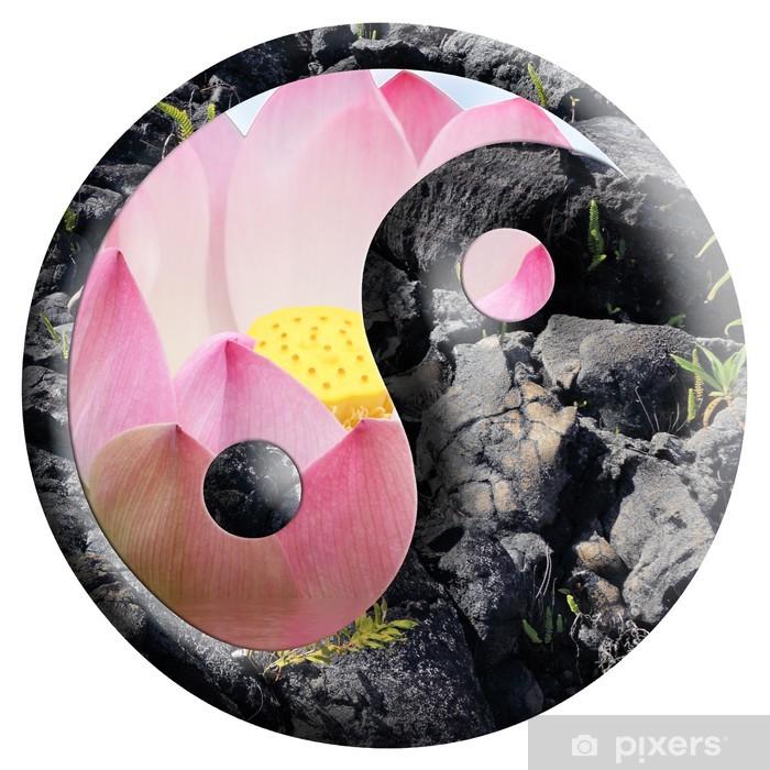 yin yang, floral, minéral Vinyl Wall Mural - Wall decals