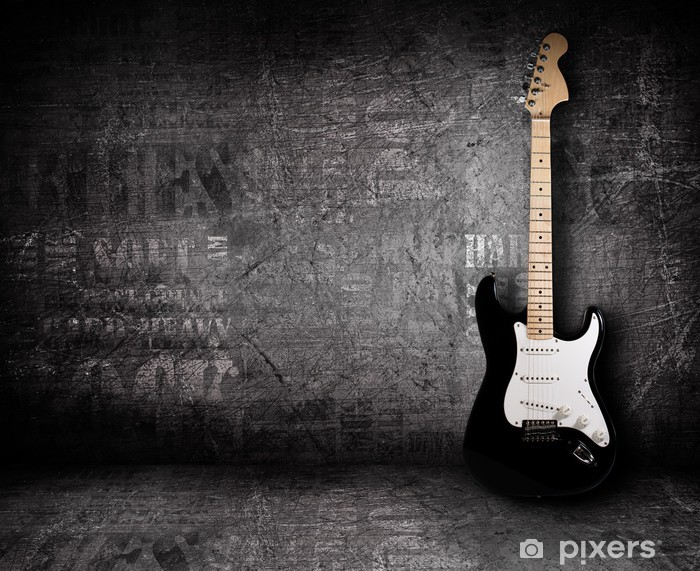 Electric guitar and the wall Vinyl Wall Mural - Jazz