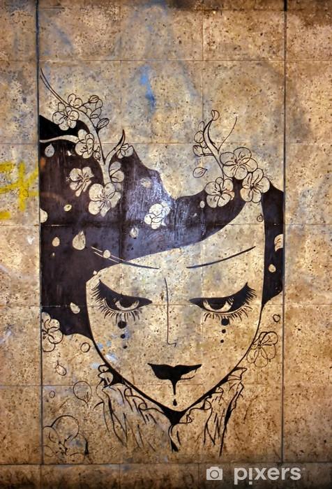 Carta da Parati in Vinile Graffiti - street art - iStaging