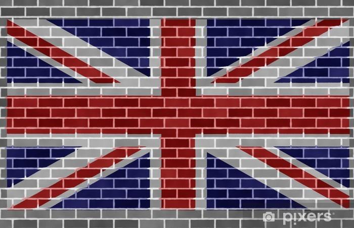 Fototapeta winylowa Flaga Wielkiej Brytanii na szarym brickswall - Tematy