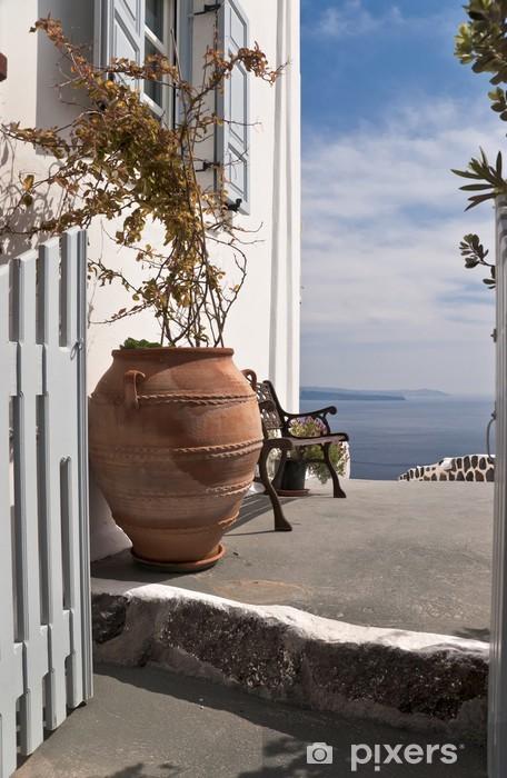 Fototapeta winylowa Wejście do domu z widokiem na morze - Inne
