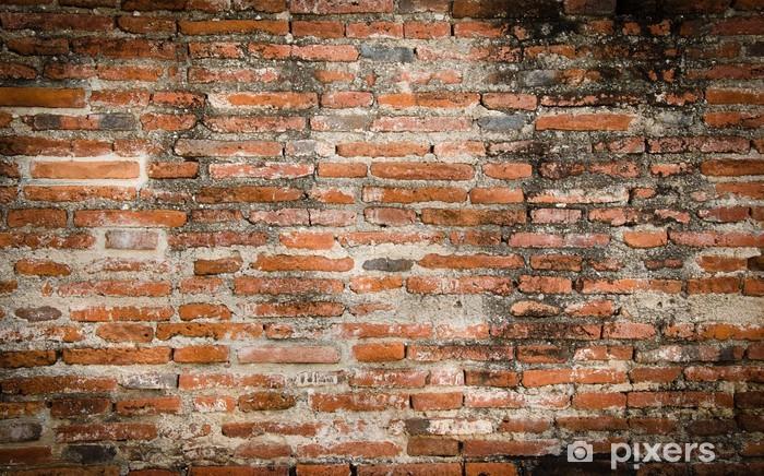 Vinil Duvar Resmi Eski tuğla duvar - Dokular