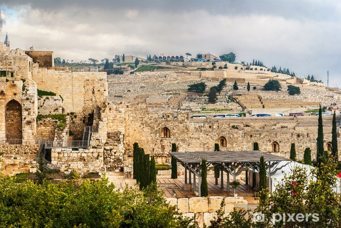 Naklejka Pixerstick Mount of Oliwnej w Jerozolimie - Bliski Wschód
