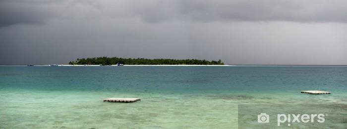 Naklejka Pixerstick Burza na Malediwach - Klęski żywiołowe