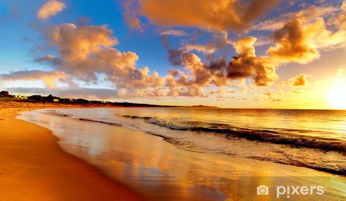 Fotomural Estándar Hermosa puesta de sol en la playa - Temas