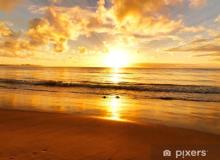 Fototapete Sonnenuntergang am Strand