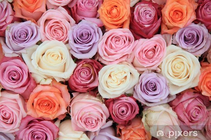 Sticker Pixerstick Rose pastel fleurs de mariage - Thèmes