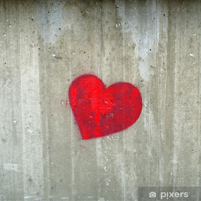 Sticker Pixerstick Foyer rouge sur le mur de béton gris - Thèmes