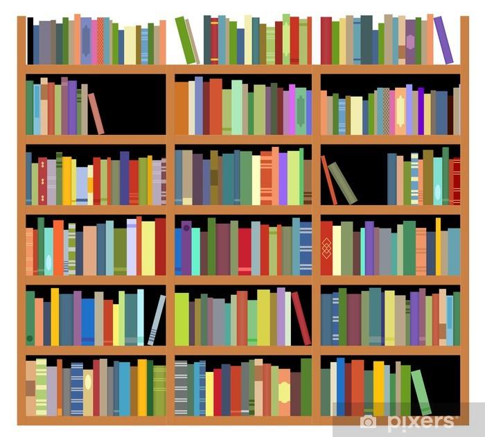 Papier peint vinyle Étagère isolée - Bibliothèque