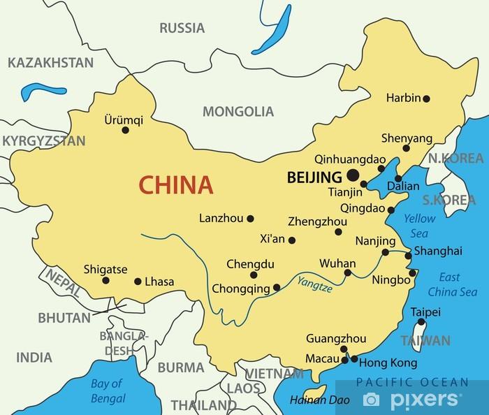 Folkerepublikken Kina Vektor Kort Plakat Pixers Vi Lever