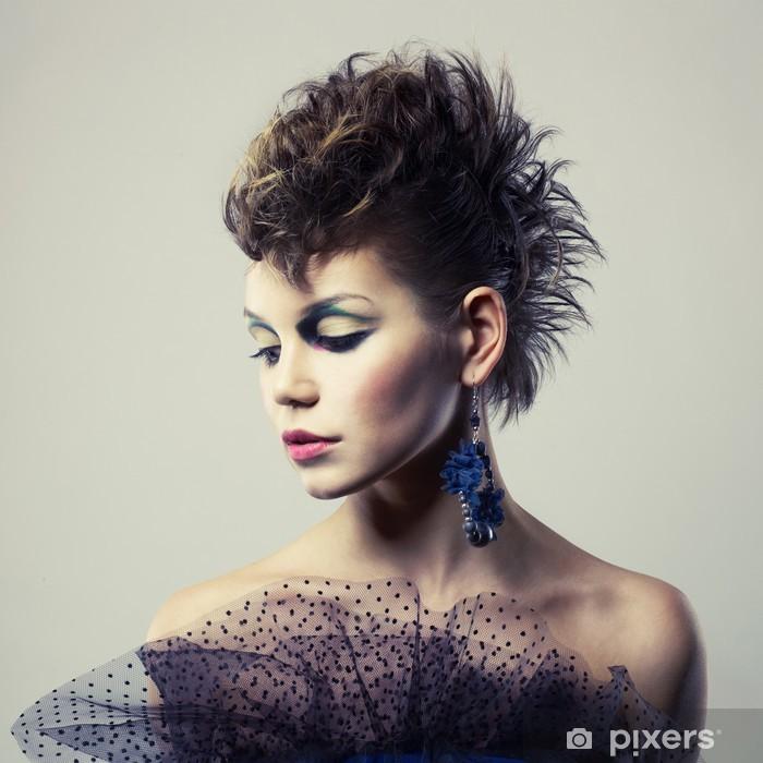 Naklejka Pixerstick Piękna lady punk - Tematy
