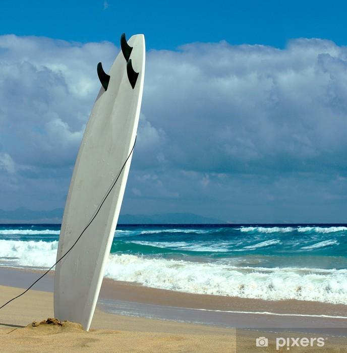 Fototapeta winylowa Deska surfingowa na plaży Fuerteventura - Europa