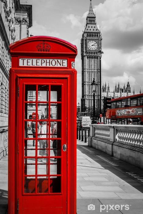 Papier peint vinyle Cabine Téléphone Londres - Thèmes