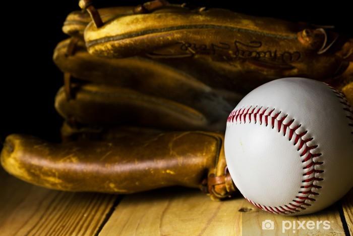 Baseball and Glove Vinyl Wall Mural - Sports Items