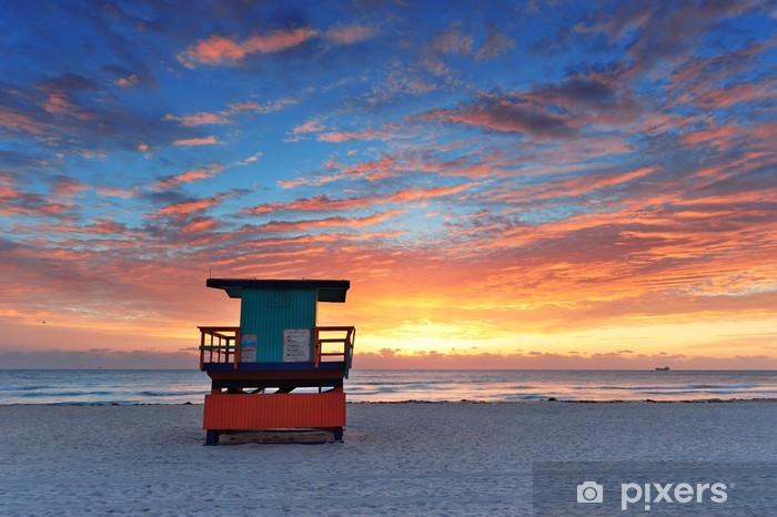 Fototapeta winylowa Miami South Beach sunrise - Ameryka