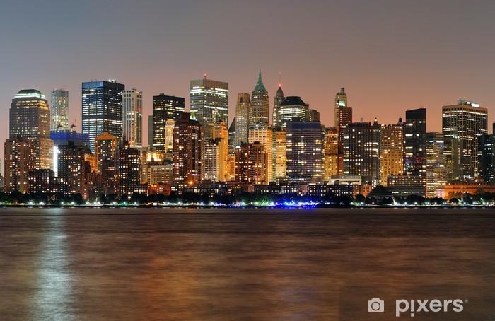 Vinyl-Fototapete New York City Manhattan Sonnenuntergang Panorama - Themen