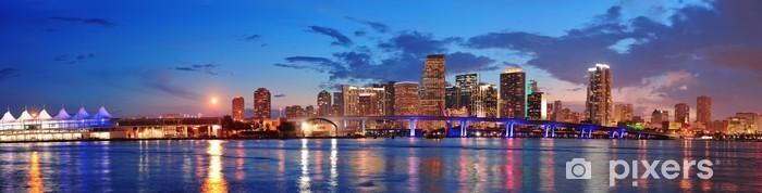 Carta da Parati in Vinile Miami scena di notte - America