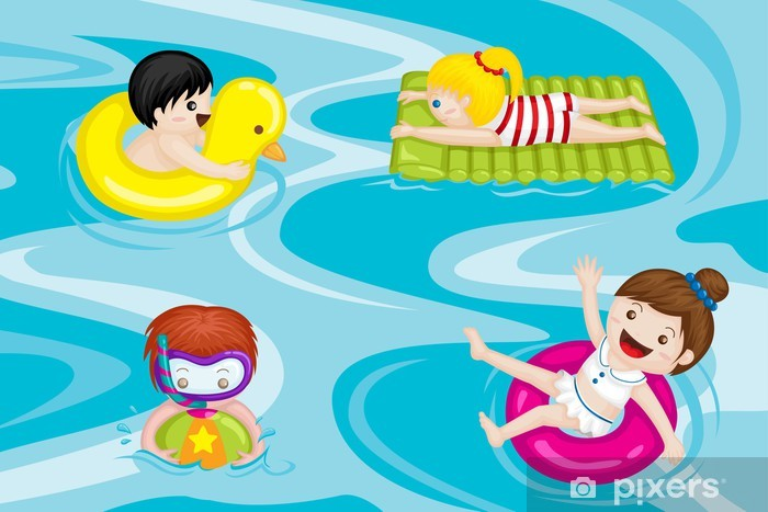 Fototapete Kinder im Schwimmbad