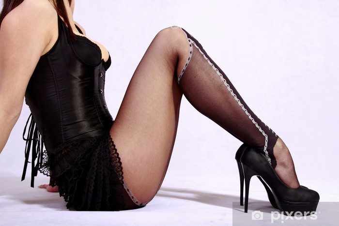 Apologise, but, black high heels and stockings true answer